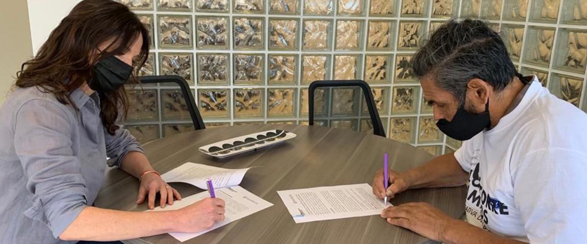 Se firmó un convenio con la cooperativa El Corre Camino