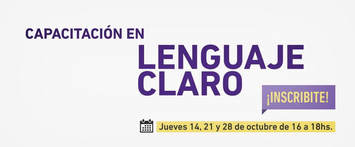 Capacitación en Lenguaje claro