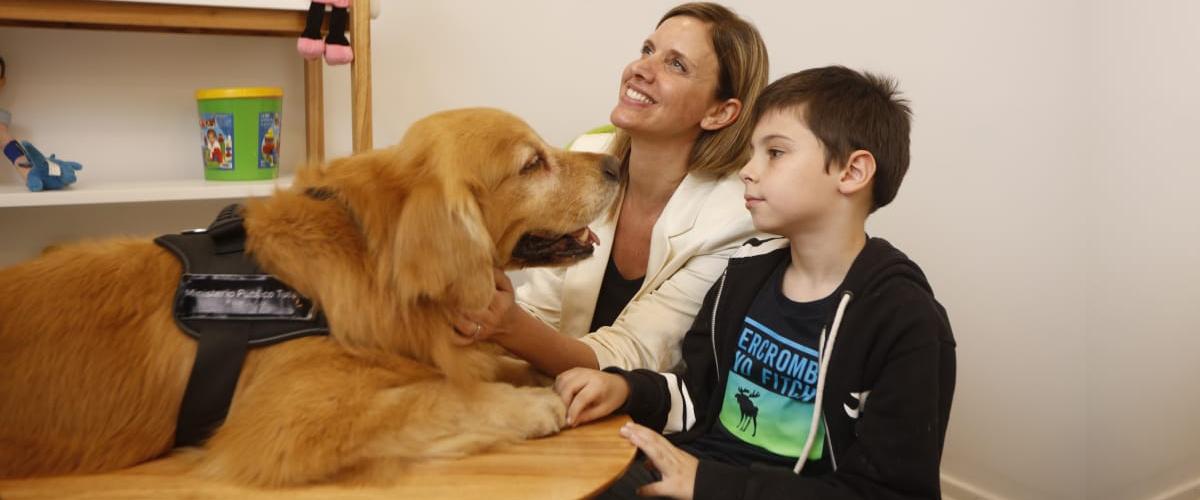 """El MPT incorporó el Programa """"Perro de Terapia para Asistencia Judicial"""" a la Sala de Entrevistas Especializada"""