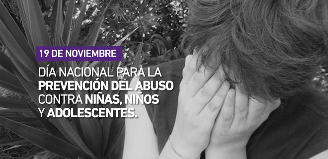 Día Nacional para la prevención del abuso contra niñas, niños y adolescentes