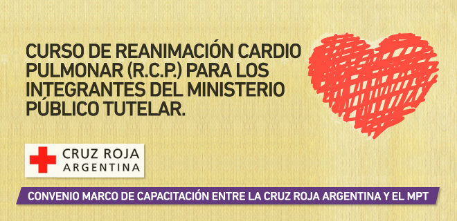 La Cruz Roja Argentina capacitará al personal del MPT